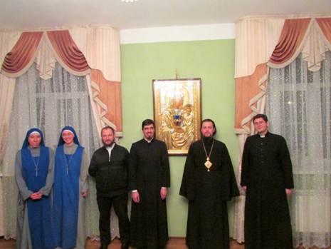 Padres y Hermanas del IVE junto al Obispo Ortodoxo de Javarosk