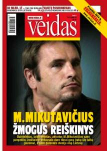 """Marionas Mikotavičius en la tapa de la revista """"Caras"""" (Veidas), en la edicion aparecida pocos dias despues del partido."""