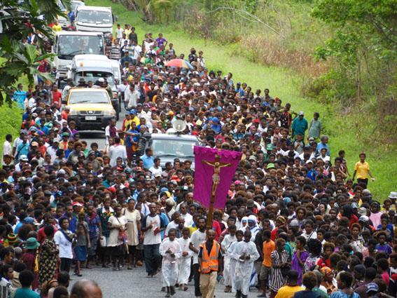 Via Crucis en Papúa Nueva Guinea