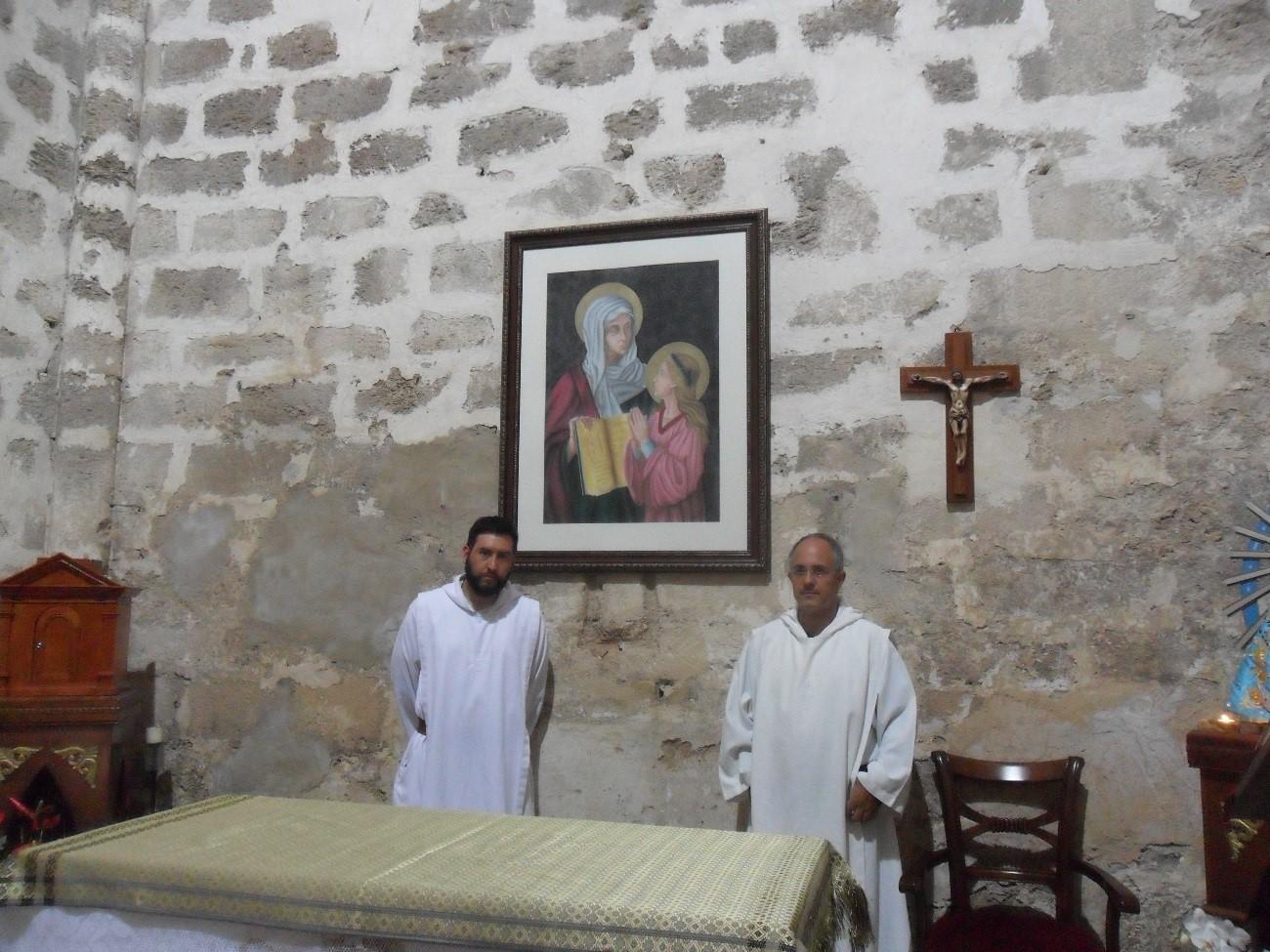 """Celebración de Santa Ana en el """"monasterio de la Sagrada Familia"""" en tierra santa, por monjes del Instituto del Verbo Encarnado - IVE"""