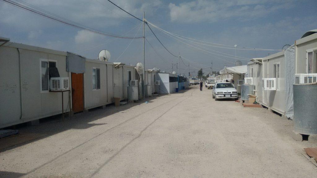 Detalle del campamento cristiano de refugiados.