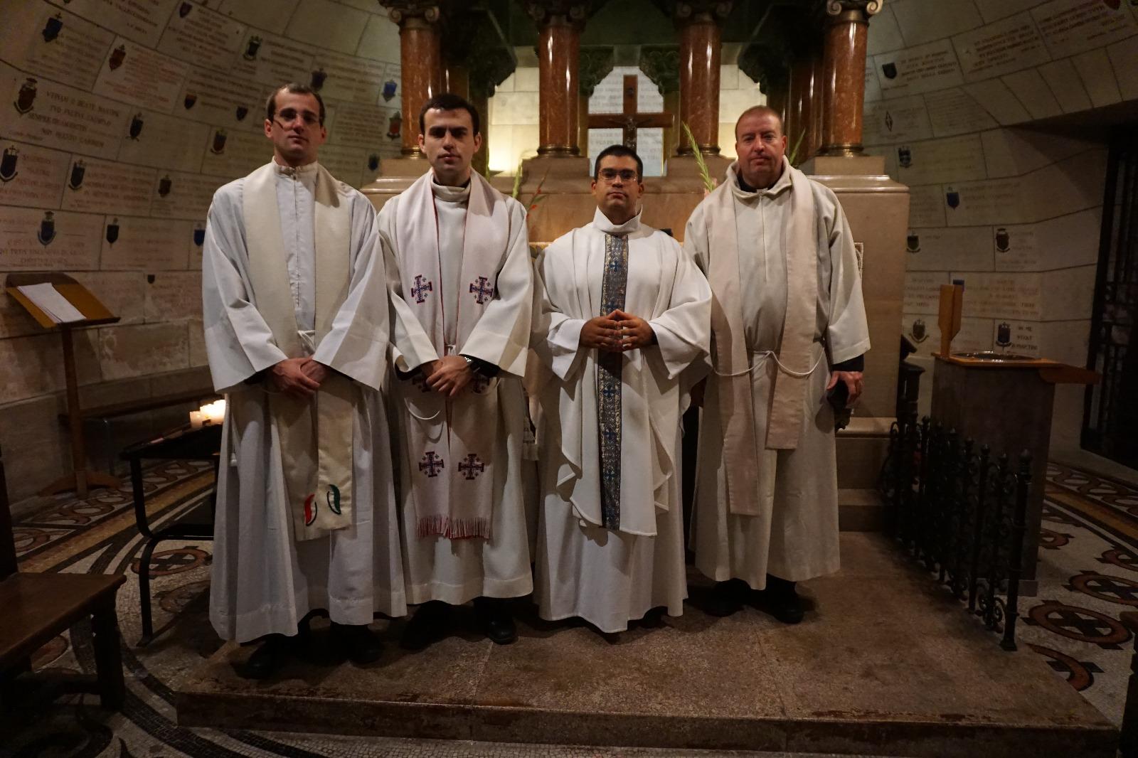Luego de la Misa en la tumba de San Martín