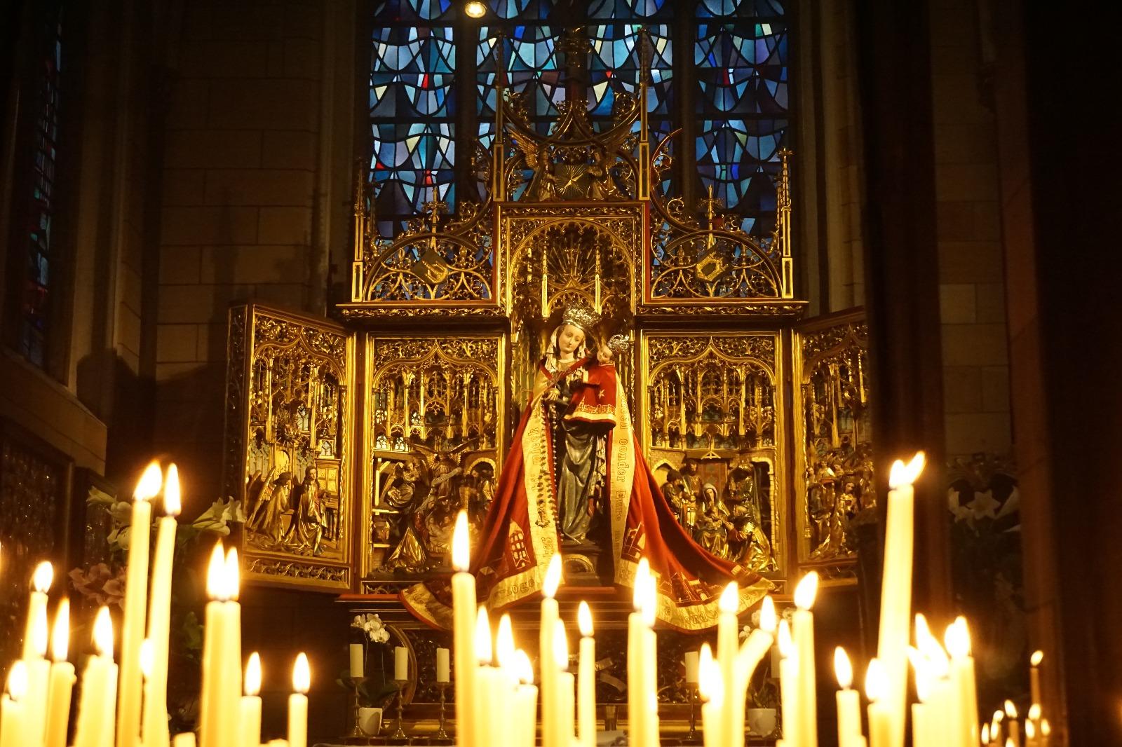 Imagen de la Virgen Stella Maris en Maastrich