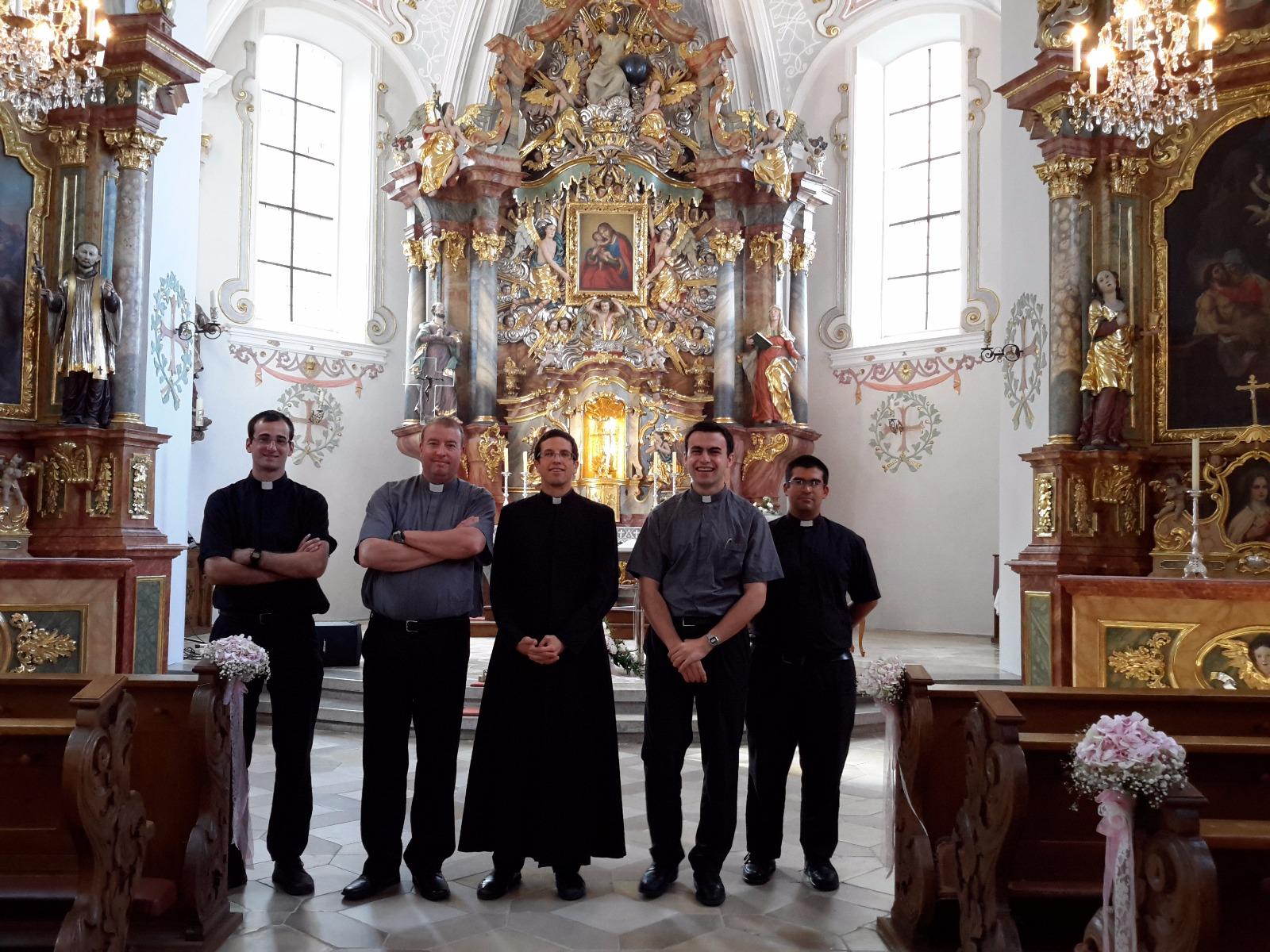 Santuario de Mariahilf (atendido por el IVE), donde nos recibieron los P. Martín Villagrán y William Duraney
