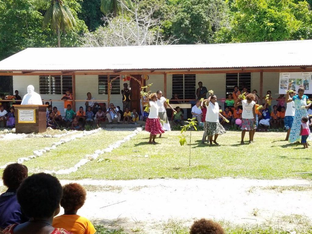 Intituto del Verbo Encarnado - Misioneros construyen una bilioteca en Papúa Nueva Guinea