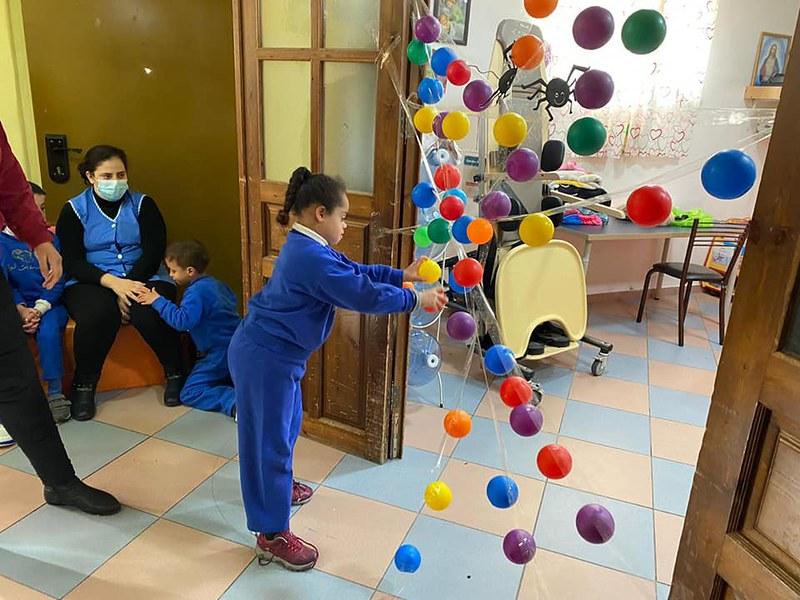 Belén - Actividad de psicomotricidad de la semana en el Hogar Niño Dios