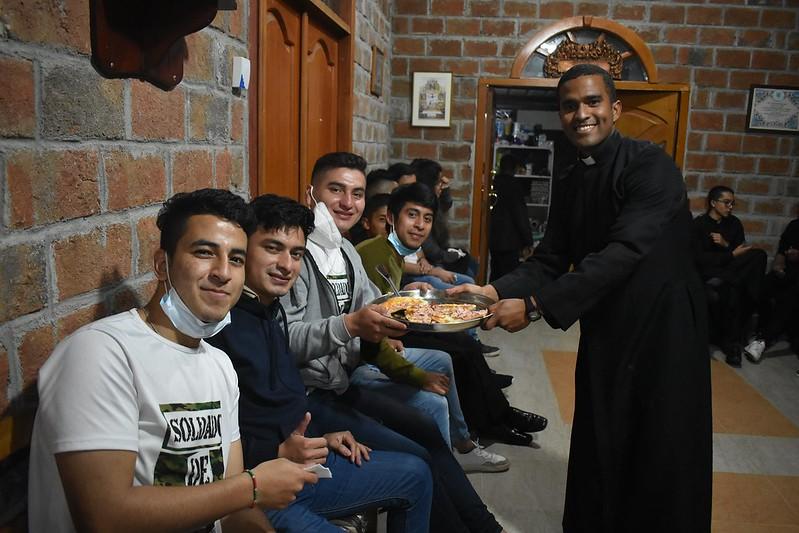 Ecuador - Encuentro con los jóvenes en el Noviciado