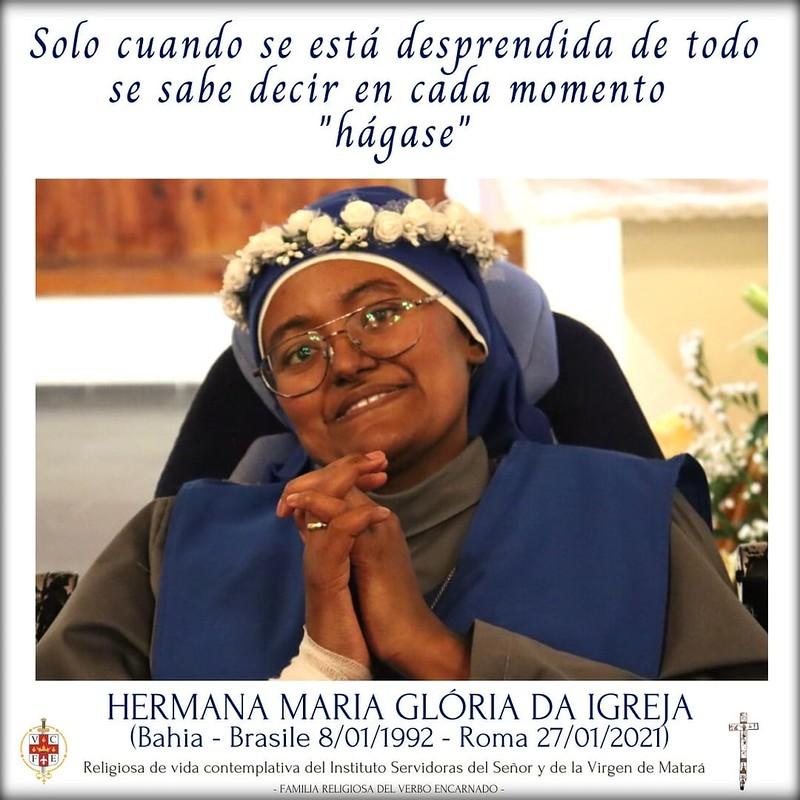 Italia - Fallecimiento de la Hna. Maria Glória da Igreja