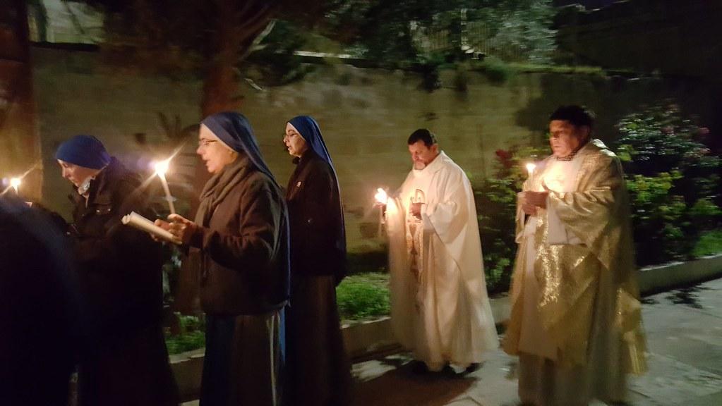 Tierra Santa - Misa de la Presentación del Señor en la capilla de San José en Belén.