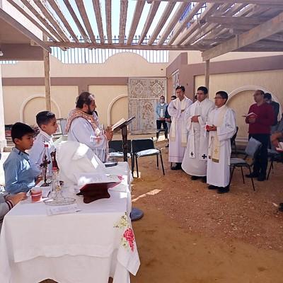 Egipto - Visita de los neo-sacerdotes a la Ciudad Seis de Octubre en El Cairo