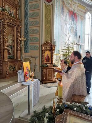Ucrania - Visita del ícono de la Sagrada Familia a las familias de la Parroquia