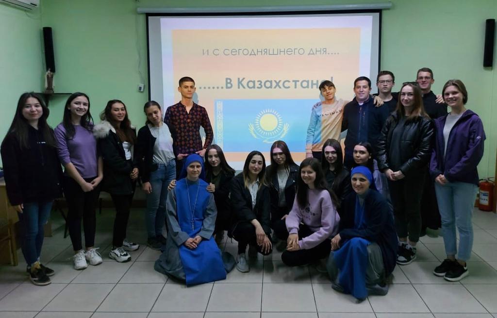 Legada de los nuevos misioneros en Shimkent, Kazakhstan