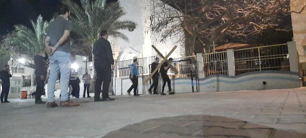 Gaza - Preparación del Via Crucis viviente