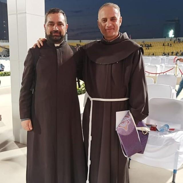 Irak - El Padre Pablo De Santo en Erbil donde concelebró en la Misa del Papa Francisco, con el P. Nirwan, quien se salvó hace algunos años de un atentado
