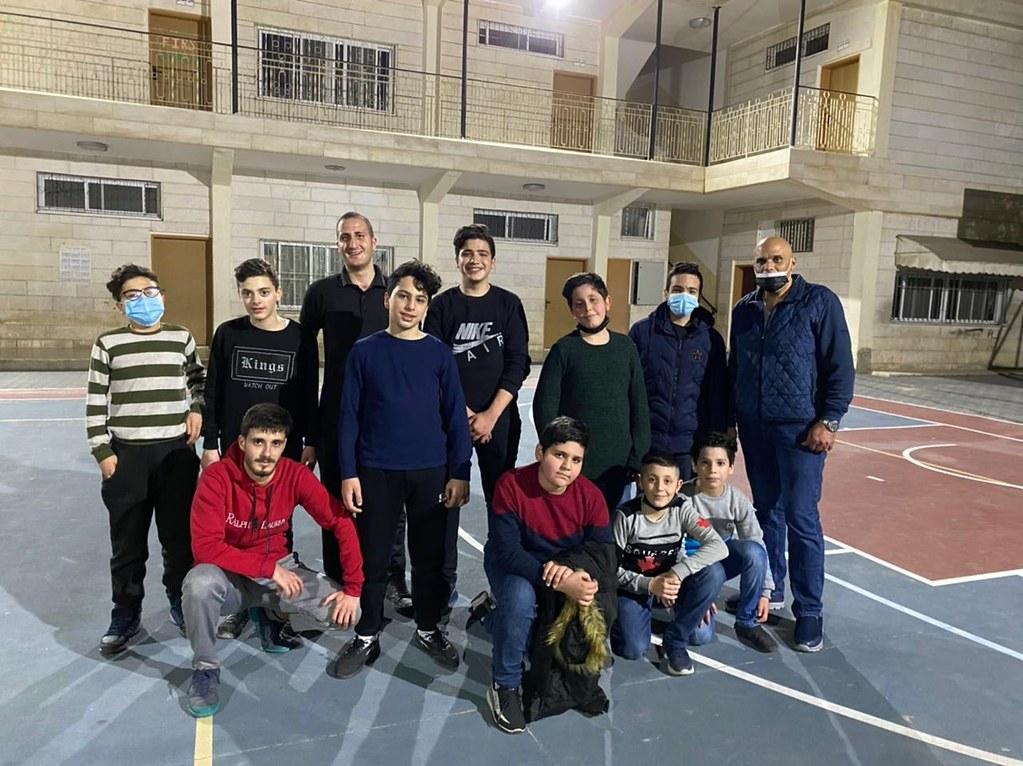 Gaza - Deporte con el grupo de jóvenes