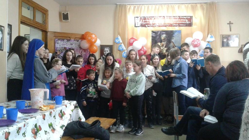 Kazajstán - Bienvenida de la Hna. Dieva a la misión