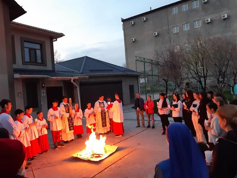 Vigilia Pascual en Kazajstan