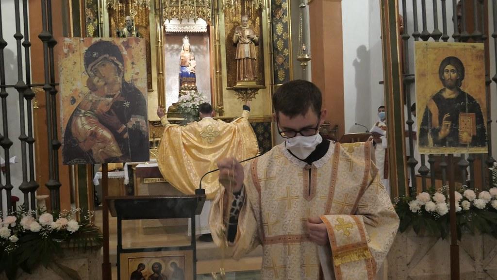 España - Solemnidad de la Anunciación de la  Liturgia Bizantina en el Pueyo