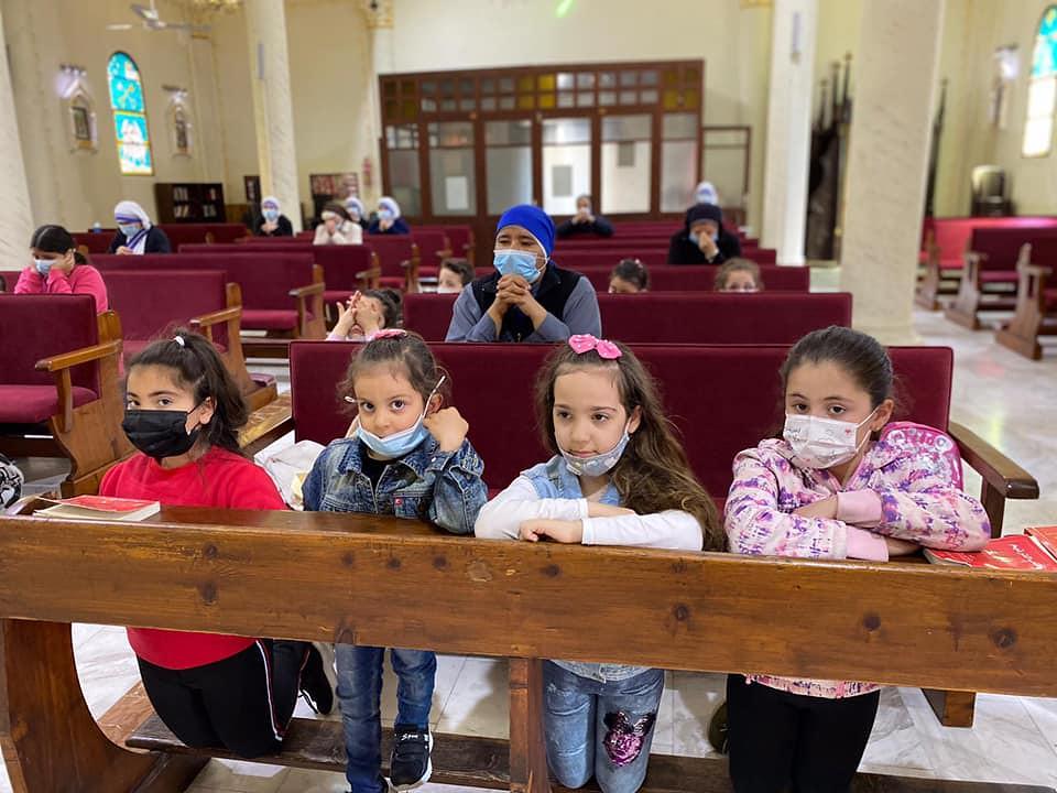 Gaza - Misa con los niños del Oratorio