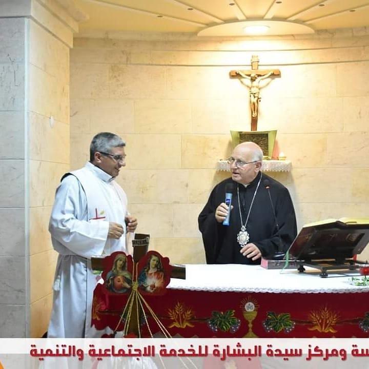 Siria - Visita del Obispo Melquita de Alepo al Centro de la Iglesia de N. S. de Alepo