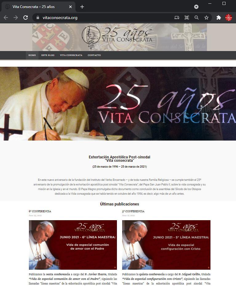 Nueva Página VitaConsecrata.org