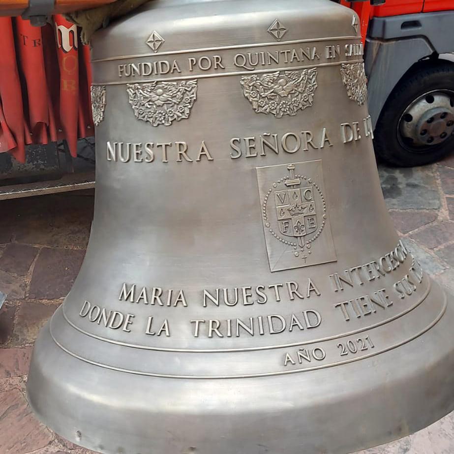 España - Nueva campana Nuestra Señora de Luján, para el Monasterio de Valvanera