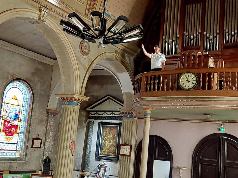 Francia - Inauguración del órgano de la Iglesia Saint-Vivien