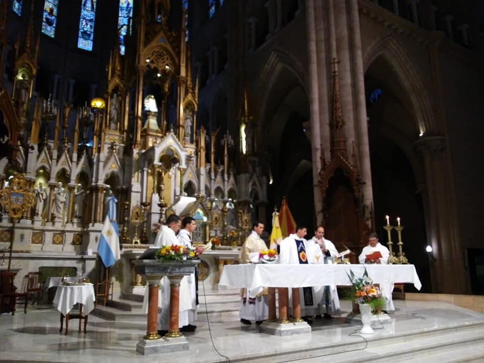 Argentina - Primera Misa en la Basílica de Luján del Padre Juan Martín Conforte y del Padre Caratti Ignacio