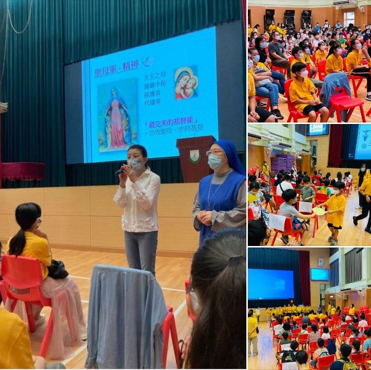 Hong Kong - Presentación de la Legión de María a los niños del catecismo
