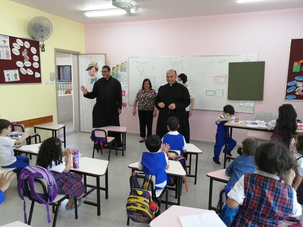 Gaza - Visita a la Escuela del Rosario