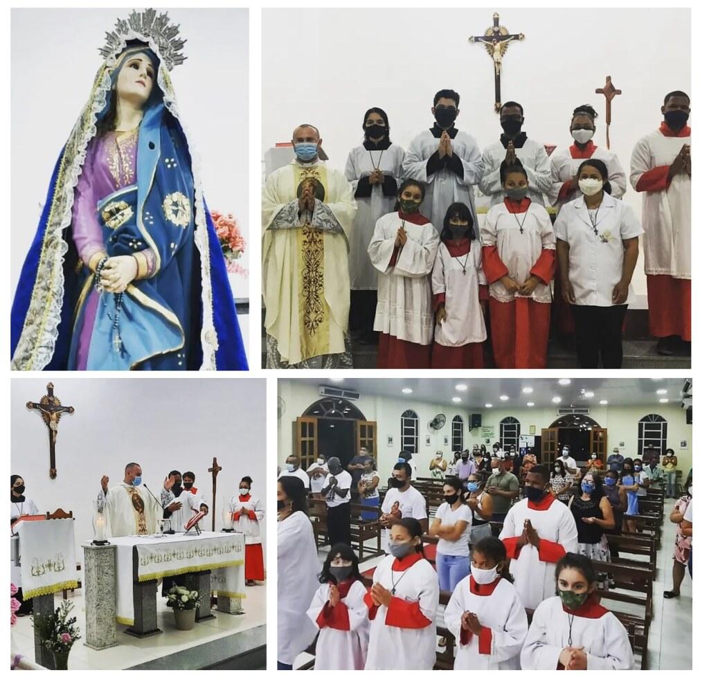 Brasil - Misa de Nuestra Señora de los Dolores en la Parroquia San Juan XXIII