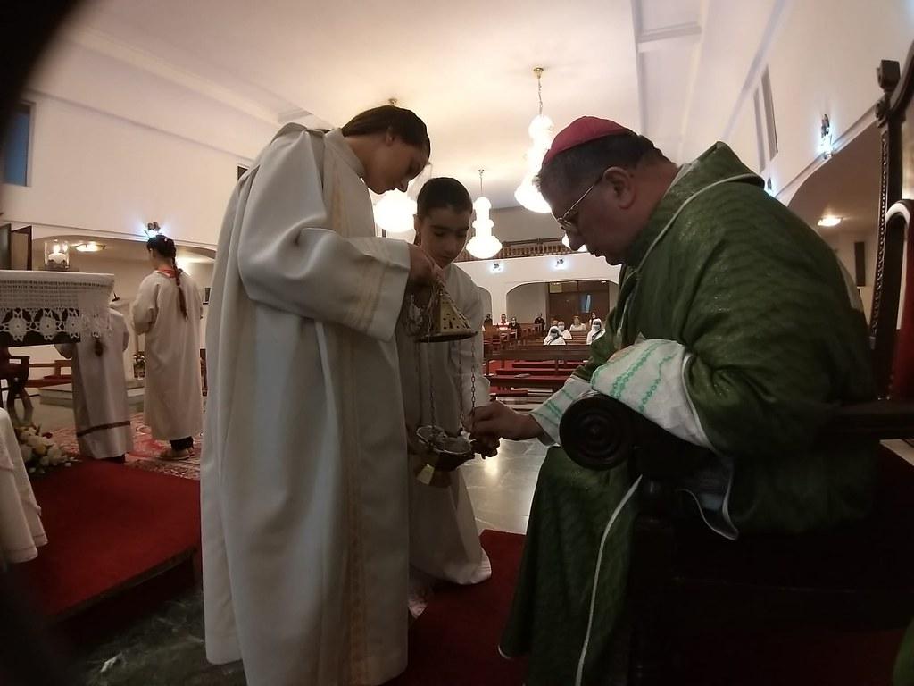 Irak - Misa con Mons. Jean Sleimán, Obispo de Bagdad