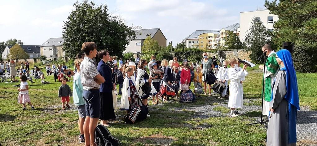 Luxemburgo - Bendición de mochilas escolares