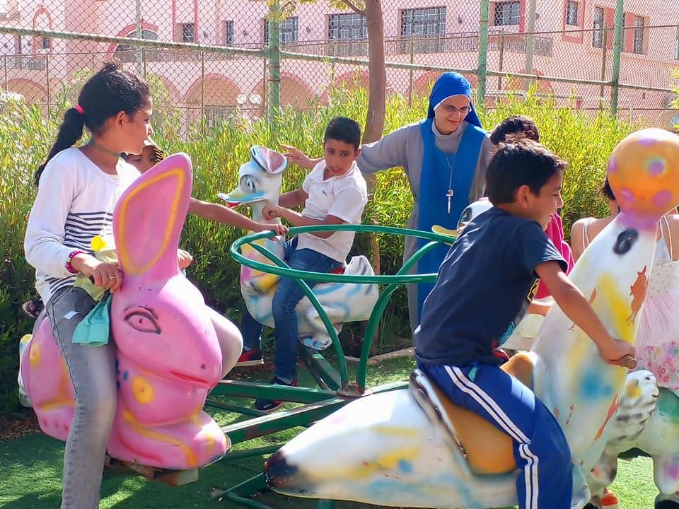 Egipto - Salida con los niños del oratorio en El Cairo