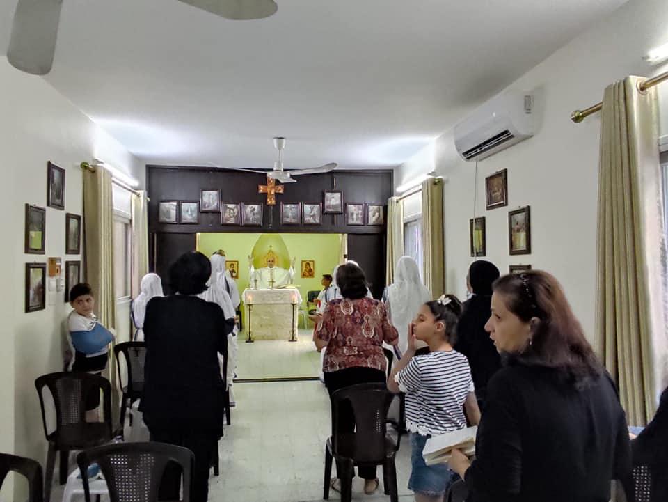 Gaza - Misa en Santo Tomás de Aquino