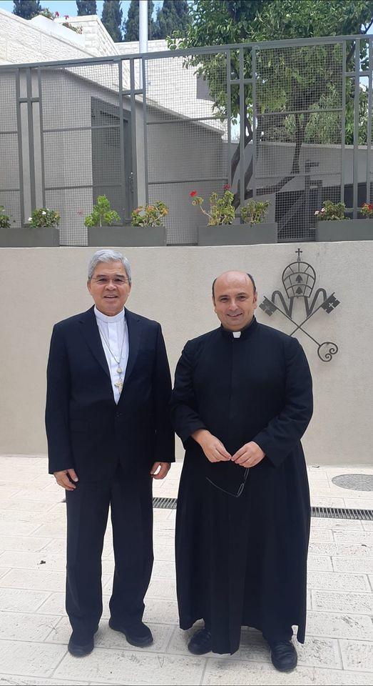 Gaza - Visitando al Delegado Apostólico de Su Santidad el Papa Francisco, Mons. Adolfo Tito Yllana en Jerusalén.