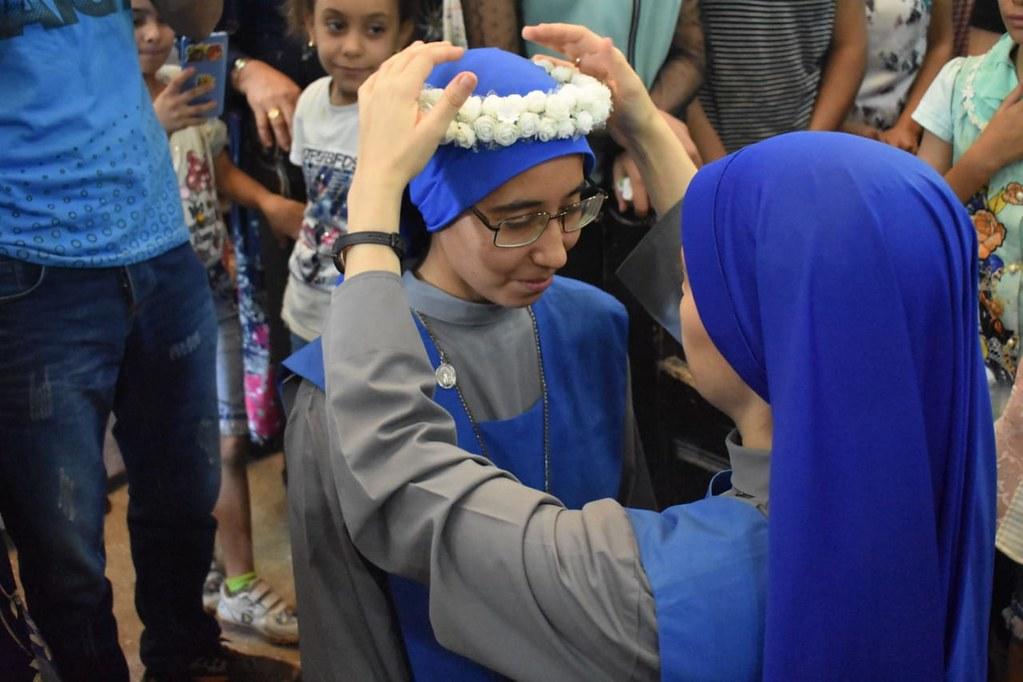 Egipto - Primeros Votos de la Hna. Kilan Bikhristus en Menia